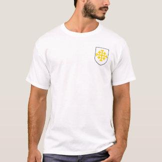 Königreich von Jerusalem-Weiß u. von T-Shirt