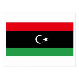 Königreich von Libyen-Flagge (1951-1969) Postkarte