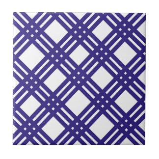 Königsblau-Gitter Kleine Quadratische Fliese