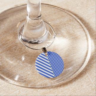 Königsblau-Tupfen und Streifen durch ShirleyTaylor Glasmarker