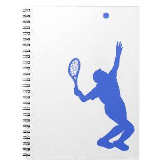 Königsblau-und Weiß-Tennis Spiralblock