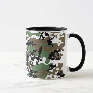 Konkrete Dschungel-Camouflage-Glas-Tasse Tasse