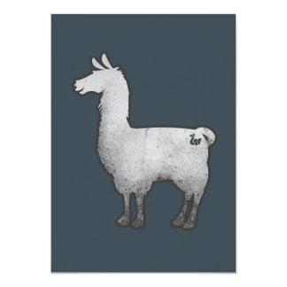 Konkrete Lama-Einladung Karte
