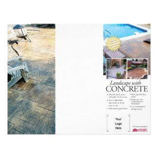 Konkrete landschaftlich gestaltenbroschüre für 21,6 x 27,9 cm flyer