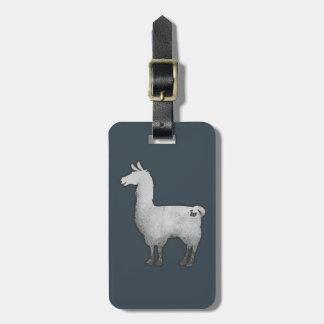 Konkreter Lama-Gepäckanhänger Kofferanhängern