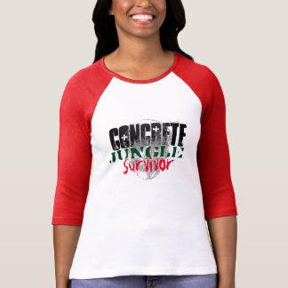 Konkretes Dschungel servivor T-Shirt
