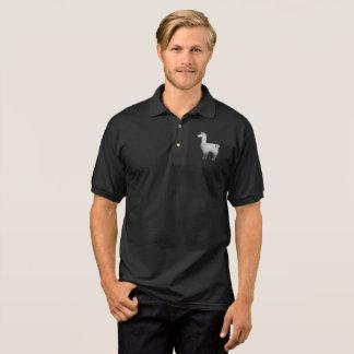 Konkretes Lama-Polo-Shirt Poloshirt