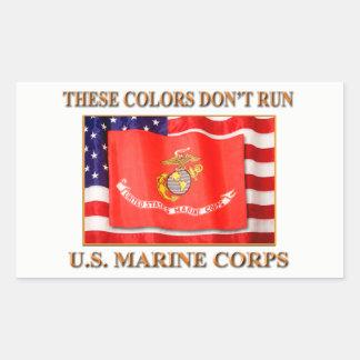 Können Sie Karo mein Marine- und Marineprodukte Rechteckiger Aufkleber