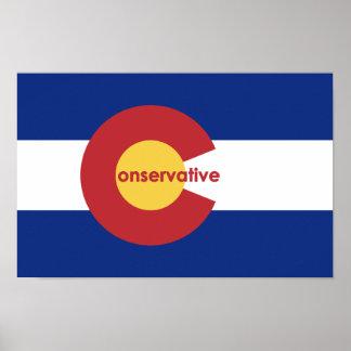 Konservatives Flaggen-Plakat Colorados Poster