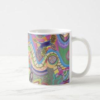 Kontrolliertes Chaos-bunte abstrakte Tasse