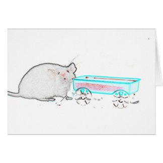 Konturmaus mit den niedlichen Mäusen des Mitteilungskarte