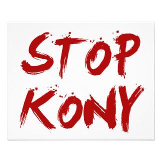 Kony 2012 Halt roter blutiger Joseph Kony 11,4 X 14,2 Cm Flyer