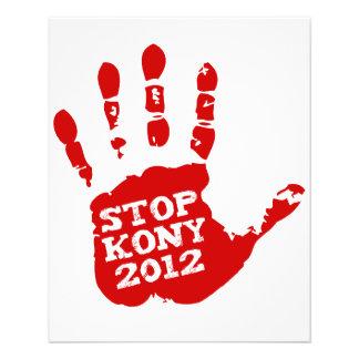 Kony Handprint Halt 2012 Joseph Kony 11,4 X 14,2 Cm Flyer