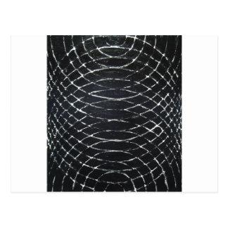 Konzentrische schwarze Kräuselungen (schwarzer Postkarte