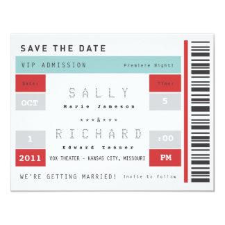 Konzert-Karte Save the Date 10,8 X 14 Cm Einladungskarte