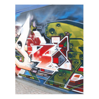 Kopenhagen-Straßen-Graffiti-Kunst Postkarte