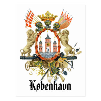 Kopenhagen-Wappen Postkarte