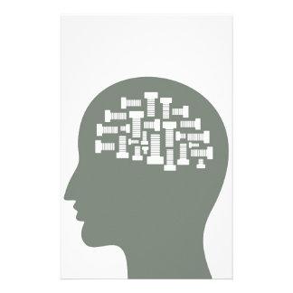 Kopf Individuelles Büropapier
