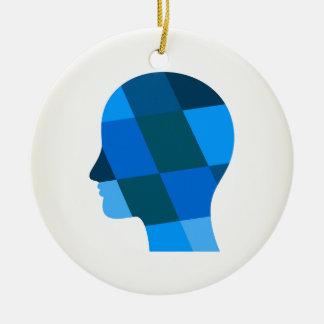 Kopf Keramik Ornament