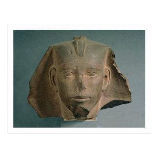 Kopf von König Djedefre, von Abu Roash, altes Postkarte
