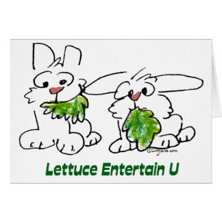 Kopfsalat unterhalten u-Cartoon-Kaninchen Karte