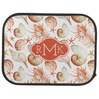 Koralle mit Monogramm des Muschel-u. Automatte