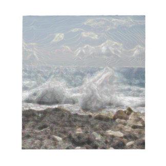 Koralle und Wellen Notizblock