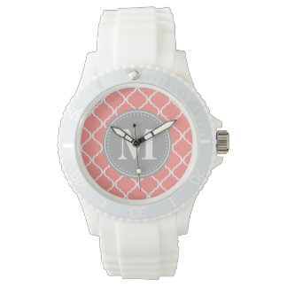 Korallenrotes rosa marokkanisches armbanduhr