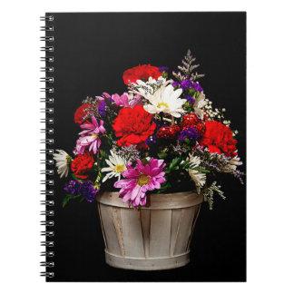 Korb der Blumen Notizblock