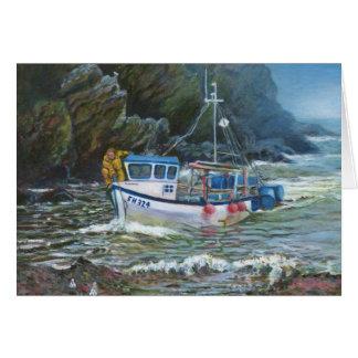 Kornische traditionelle Fischerbootmalerei Karte