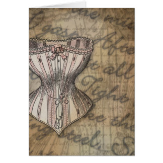 Korsett-Collage Grußkarte