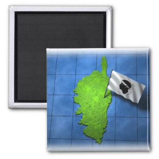 Korsika mit seiner eigenen Flagge Kühlschrankmagnet