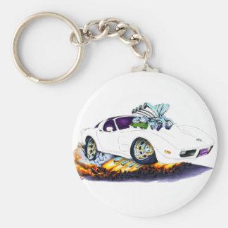 Korvette-Weiß-Auto 1977-79 Schlüsselanhänger