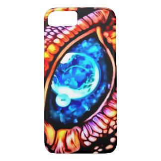 Kosmische Drache-Augen-Spritzpistolen-Kunst iPhone 8/7 Hülle