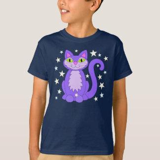 Kosmische Entwurfs-Katze hat Cartoonkitty-Shirt in T-Shirt