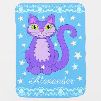 Kosmische Entwurfs-Katzen-personalisierte Kinderwagendecke