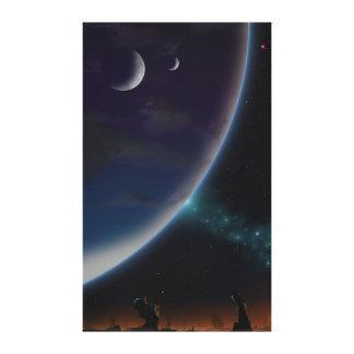 Kosmische Fantasie Gespannter Galeriedruck