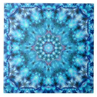 Kosmische Fenster-Mandala Große Quadratische Fliese
