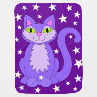 Kosmische Katzen-niedlicher lächelnder Babydecke