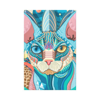 Kosmische Sphynx Katze Leinwanddruck