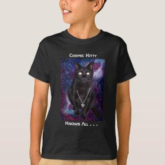 Kosmischer Kitty-T - Shirt - Kinder