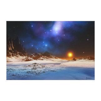 Kosmischer Sonnenuntergang Gespannter Galeriedruck