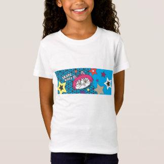 Kosmisches Blau SkateKitty T-Shirt