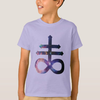 Kosmisches satanisches Kreuz T-Shirt