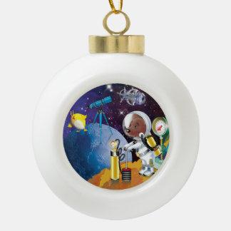 Kosmos Keramik Kugel-Ornament