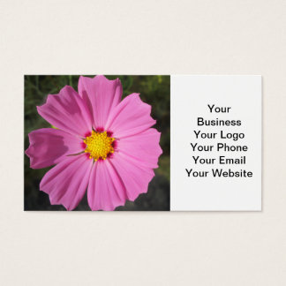 Kosmos-rosa Blume Visitenkarten