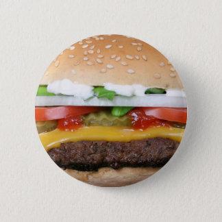 köstlicher Cheeseburger mit Runder Button 5,1 Cm