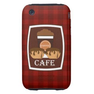 Köstlicher Tasse Kaffee der Illustration iPhone 3 Tough Case