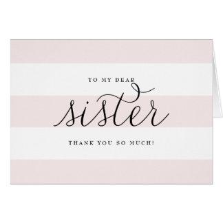 Köstliches Skript u. Rosa-Streifen-Schwester, die Karte