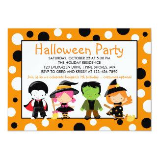Kostüm scherzt Halloween-Party-Einladungen Karte